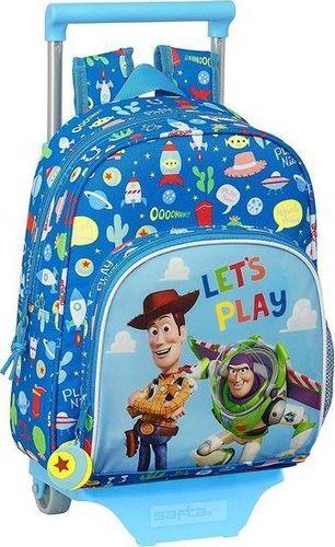 Toy story Torba szkolna z kółkami 705 Toy Story Let's Play Niebieski