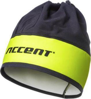 Accent Czapka kolarska Accent Pro Team, czarno- żółta fluo, S