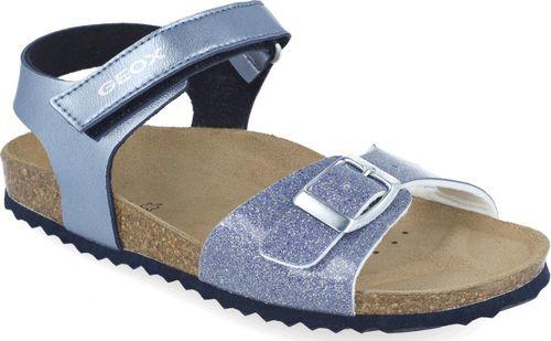 Geox Sandały dziewczęce GEOX J028MC niebieski 29