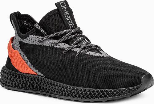Ombre Buty męskie sneakersy T371 - czarne 45