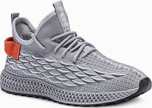 Ombre Buty męskie sneakersy T372 - szare 45