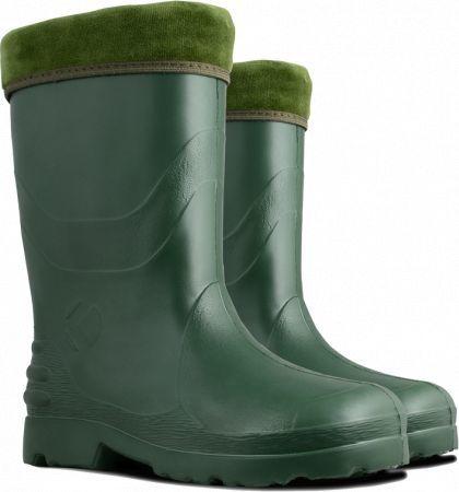 Kolmax K1516242 Kalosze damskie z ociepliną (032), zielone, Eva, rozmiar 42
