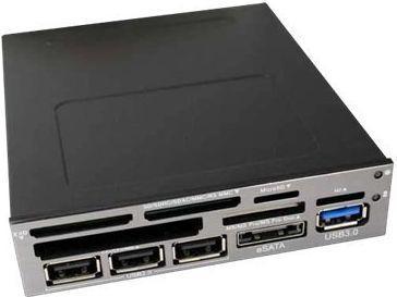 Czytnik InLine 3,5inch 1x USB 3.0 1x eSATA 3x USB 2.0 (33394U)