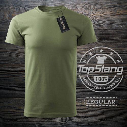 Topslang Topslang koszulka wojskowa zielona khaki męska bawełniana t-shirt męski zielony REGULAR XXL