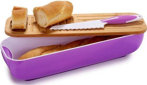 Chlebak Arte Regal Chlebak, zestaw piknikowy fioletowy