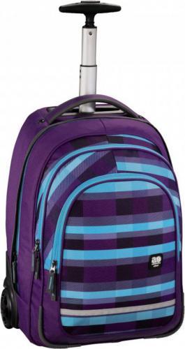 All Out Plecak szkolny na kółkach Bolton summer check purple