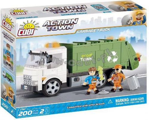 Cobi Klocki Action Town Śmieciarka 200 el.