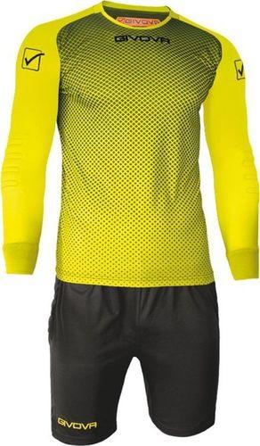 Givova Komplet bramkarski Givova Kit Manchester FLUO żółto-czarny KITP008 1910 : Rozmiar - 2XS