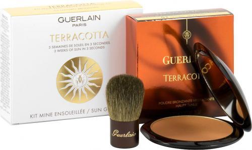 Guerlain TERRACOTTA SUN GLOW KIT 03 (natural brunettes)+ BRUSH SET