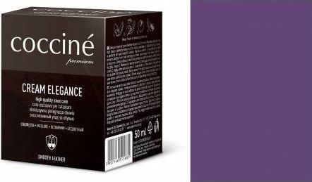 Coccin PASTA DO BUTÓW KREM SKÓRY GŁADKIEJ CREAM ELEGANCE FIOLETOWY 50 ML