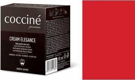 Coccin PASTA DO BUTÓW KREM SKÓRY GŁADKIEJ CREAM ELEGANCE CZERWONY 50 ML