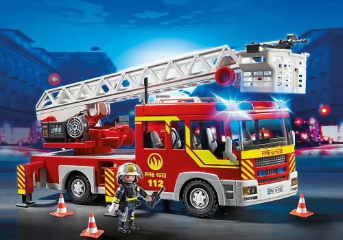 Playmobil Samochód strażacki z drabiną, światłem i dźwiękiem ( 5362 )