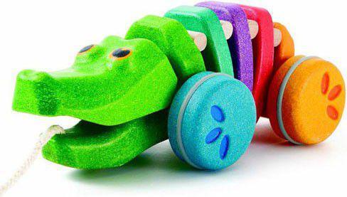 Plan Toys Tęczowy krokodyl do ciągnięcia (PLTO-1416)