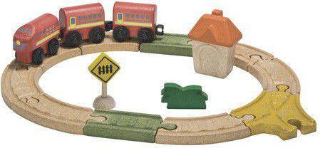 Plan Toys Drewniana kolejka mała (PLTO-6604)