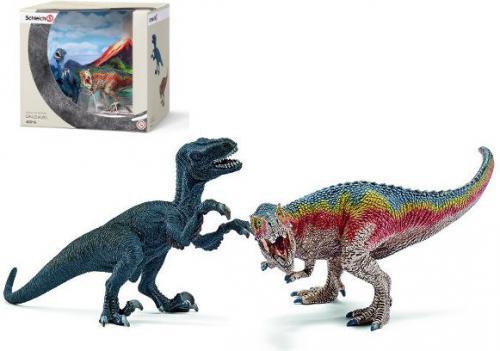 Figurka Schleich TRex i Velociraptor zestaw (42216)