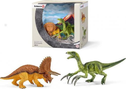 Figurka Schleich Triceratops i Terizinozaur zest (42217)