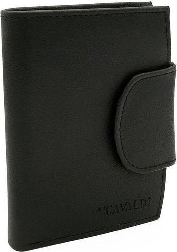 4U Cavaldi Klasyczny, pionowy portfel damski z eko skóry, zapinany na zatrzask Cavaldi