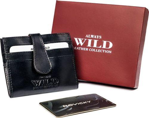 Always Wild Skórzane etui na karty płatnicze z zapinką na zatrzask Always Wild