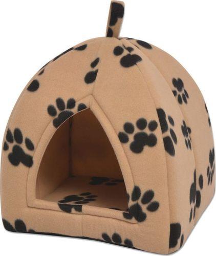 vidaXL Domek dla kota, rozmiar L, beżowy