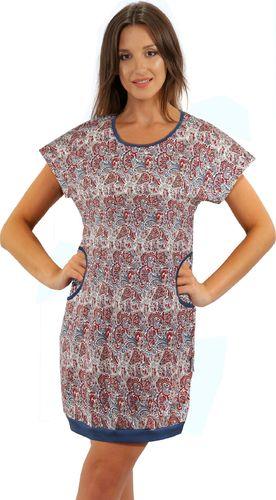 Sesto Senso Koszula nocna AWA ORIENT 100% Bawełna z kieszeniami Sesto Senso XL