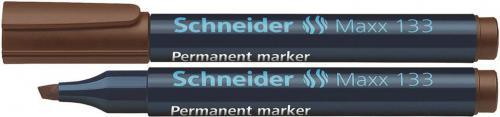 Schneider Marker permanentny SCHNEIDER Maxx 133, ścięty, 1-4 mm, brązowy (4004675038616)