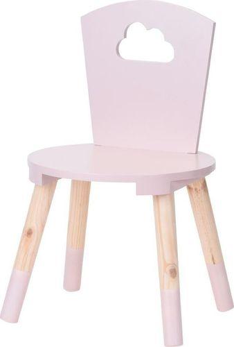 H&S Decoration Krzesło drewniane dziecięce różowe