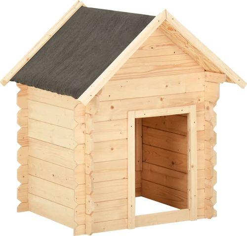 vidaXL Buda dla psa, 125x80x100 cm, lite drewno sosnowe