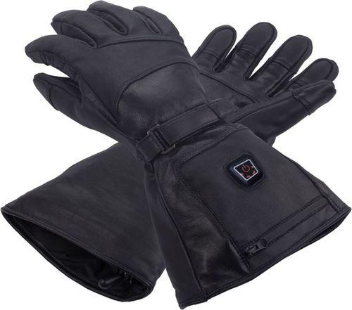 Glovii Ogrzewane, skórzane rękawiczki narciarskie, rozmiary: XL (GS5XL)