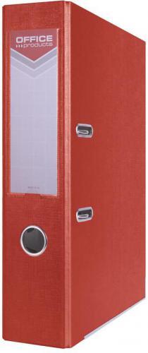 Segregator Office Products z szyną, PP, A4/75mm, czerwony (5901503650813)