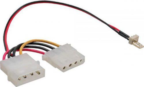 InLine Adapter 3 Pin - 4 Pin, zasialnie, 0.15m 100 szt. (33344D)