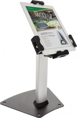 """Stojak InLine Mały stojak z zabezpieczeniem do tabletu - aluminiowy uniwersalne zastosowanie zamykany - od 7.9"""" - 10.1"""" (23166C)"""