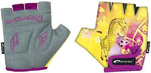 Spokey Rękawice rowerowe Żyrafa żółte r. XXS (831366)