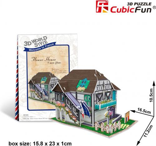 Dante Puzzle 3D Domki świata-Włochy. Flower shop - (306-23120)