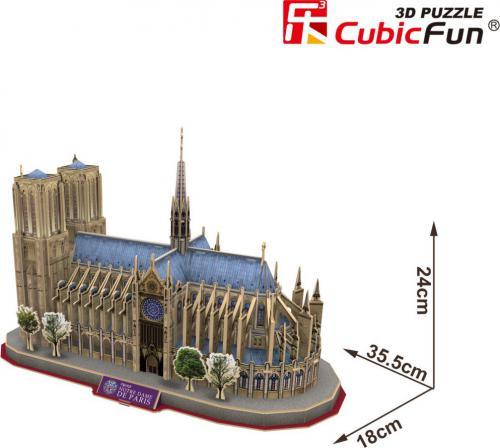Dante Puzzle 3D Katedra Notre Damede - (306-21054)