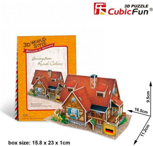 Dante Puzzle 3D Domki świata-Niemcy. Rural cabin  - (306-23128)