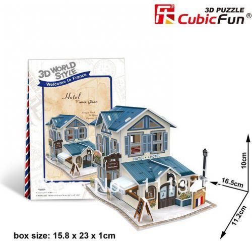 Dante Puzzle 3D Domki świata-Włochy. Hotel - (306-23117)