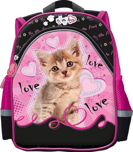St. Majewski Plecak dziecięcy My Little Friend Cat czarno-różowy