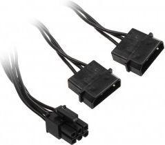 Adapter 2x Molex 1x 6-Pin-PCIe Czarny - ZUAD-763