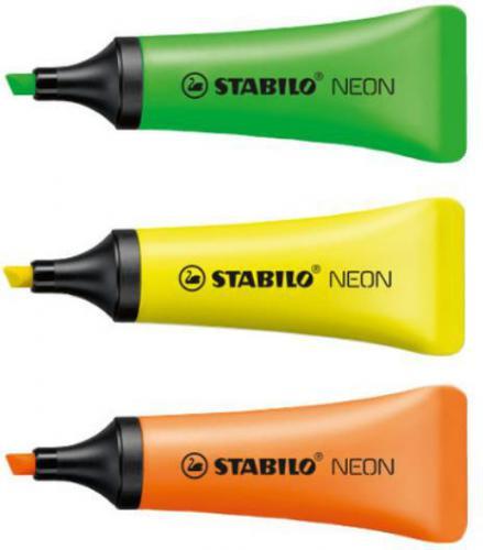 Corex Zakreślacz STABILO NEON 3 kolory - 72/3-2 COREX