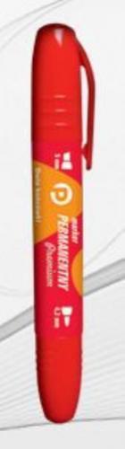Tetis Marker dwustronny permanentny czerwony okr/ść - KM502-C2