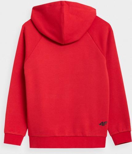 4f Bluza dziecięca HJZ21-JBLM001B czerwona r. 152