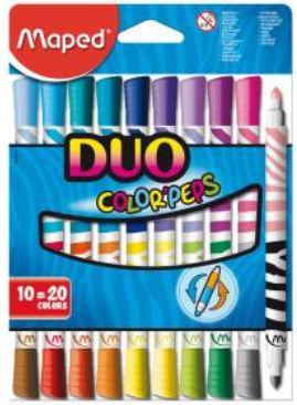 Corex Flamastry dwustronne Maped Color'peps 10 sztuk (847010)