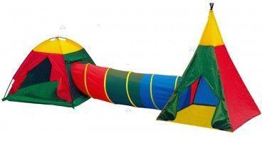 Namiot dziecięcy z Tunelem i Wigwamem 3w1 (8703)