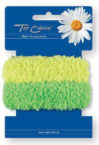Top Choice Gumki-frotki do włosów żółta i zielona 2szt 21572