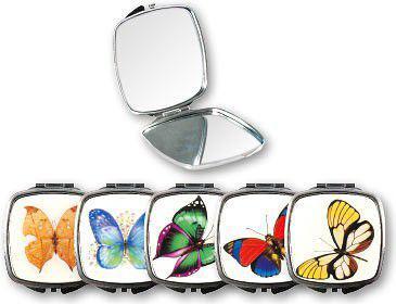 Lusterko kosmetyczne TOP CHOICE kieszonkowe Butterfly owalne (85437)