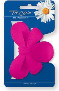 TOP CHOICE Klamra neon różowa kokarda 24221