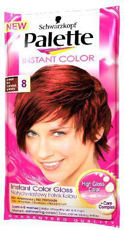 Palette Instant Color Szamponetka koloryzująca Czerwień Granatu nr 8 25 ml