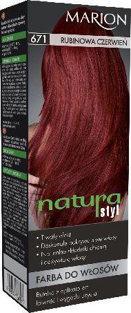 Marion Farba do włosów Natura Styl nr 671 rubinowa czerwień - 78671