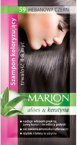 Marion Szampon koloryzujący 4-8 myć nr 59 hebanowa czerń 40 ml