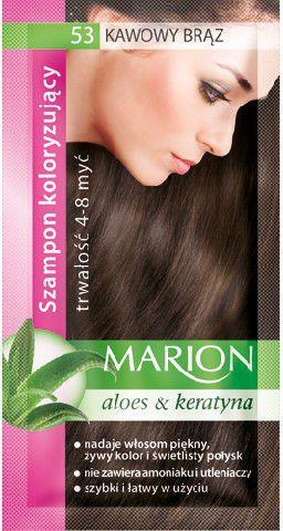Marion Szampon koloryzujący 4-8 myć nr 53 kawowy brąz 40 ml